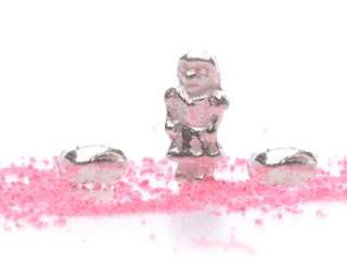 Sterling Silver SUGAR & SPICE Girls Are Made of DOLLS & HEARTS Charm