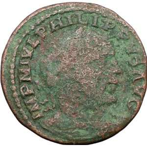 PHILIP I 243AD Viminacium LEGIONS Large Rare Ancient Roman Coin Moesia