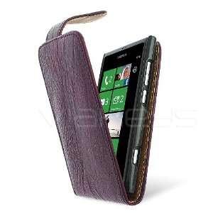 PU Leather Flip Case for Nokia Lumia 800 with Screenwear Electronics