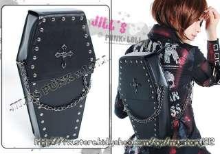 gothic Punk visual Rock coffin shape handbag / backpack