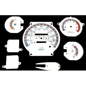 84 85 86 Nissan Hardbody 720 Pickup White Face Glow Through Gauges