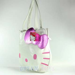 Sanrio Hello Kitty Face Purse   Hand Bag Pink Bow