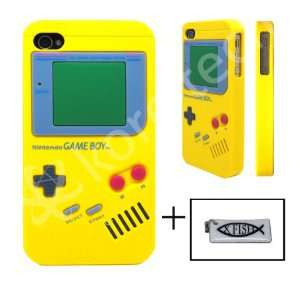 Nintendo Game Boy Gameboy Silicone Case Yellow For iPhone 4 4G + XFISH