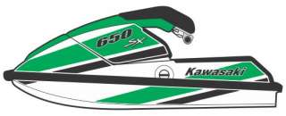 Kawasaki 650 SX JetSki Graphics Decal Kit   New   PWC