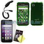 Smoke Hard Shell Cover Skin Case+Film+Car Charger for Samsung Galaxy S