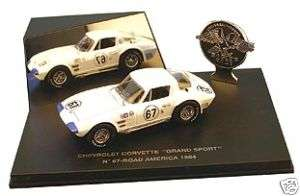 43 1964 CHEVROLET CORVETTE GRAND SPORT COUPE #67 DIECAST MODEL CAR