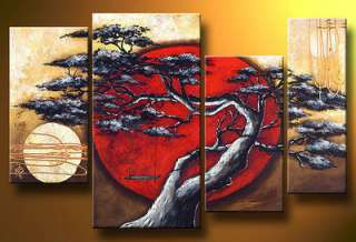 Abstract Huge Art Oil Painting Canvas Large Tree+free gift