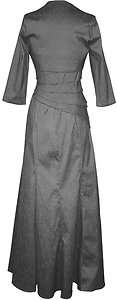 New Plus Size 16 18 20 22 24 26 Black Long Sleeve Formal Ball Gown and