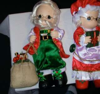 Precious Moments   Mr and Mrs Santa Claus   Dolls
