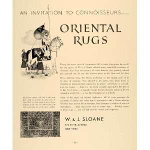 1935 Ad W J Sloane Oriental Rugs Kuba Persian Kashan