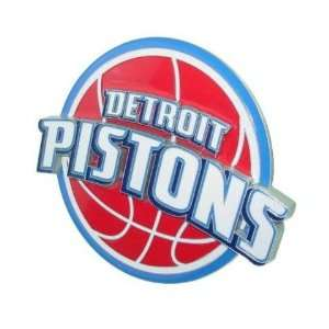 Pistons NBA Pewter Logo Trailer Hitch Cover