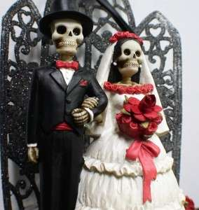 Day of the DEAD Halloween Wedding Cake Topper HUGE LOT