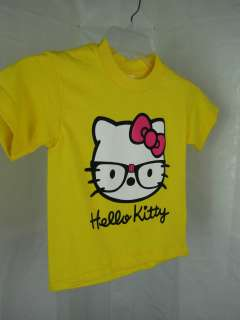 Girls Gorgeous Hello Kitty T Shirt 100% Heavy Weight Cotton sz XS