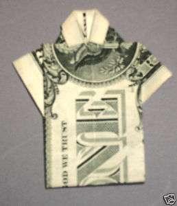 Hawaiian Money Dollar Origami Fold Aloha Shirt 1 Gift