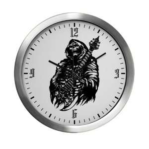 Modern Wall Clock Grim Reaper Heavy Metal Rock Player