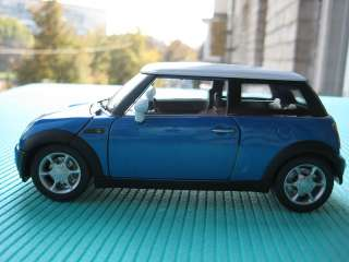Mini Cooper blue Cararama Diecast Car Model 1/24 124
