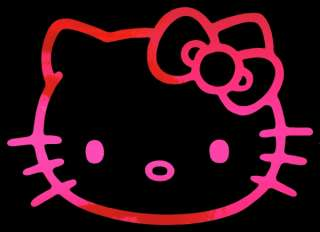 Hello Kitty HOT PINK CHROME 8 inch Auto Car Truck Window Sticker