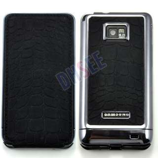 Black Crocodile Pattern Flip Leather Plating Case Cover Samsung Galaxy