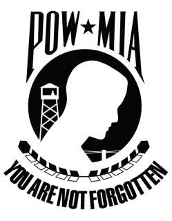 POW / MIA FLAG CAR WINDOW VINYL DECAL STICKERS.