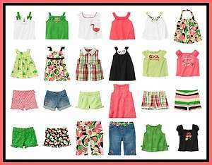 Gymboree NWT Palm Beach Paradise 12 18 24 2T 3 4 5 3T 4T 5T NEW U PICK