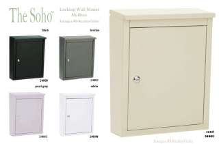 NEW WALL MOUNT SOHO MAILBOX ** LOCKING MAIL BOX