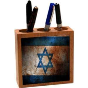 Rikki KnightTM Israel Flag 5 Inch Tile Maple Finished