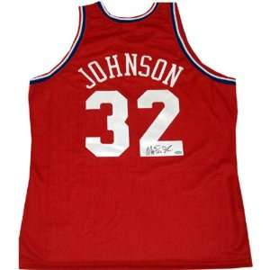 Magic Johnson Autographed 90 91 Mitchell and Ness All