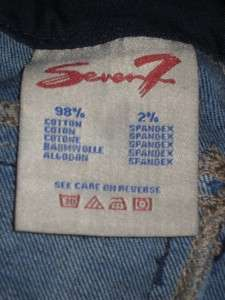 SEVEN 7 Premium Denim Jeans Dark BLUE w/ Blue Sequin 14