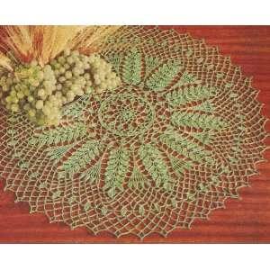 crafty jewelry: grape and leaf motif collar, free crochet