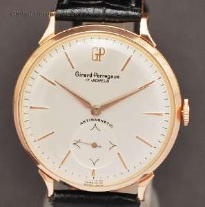 PERREGAUX 18K SOLID ROSE GOLD MANUAL WIND CALIBER 03 MENS WRISTWATCH