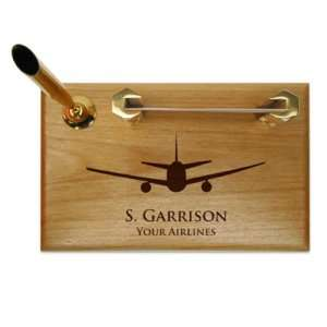 Aviation Pen & Business Card Holder