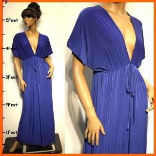 NEW Blue Wedding Prom Sexy Ladies Long Maxi Sun Dress Size S M L XL 6