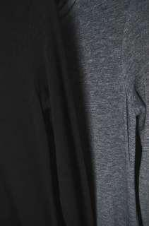 BLACK GRAY TURTLENECK LONG SLEEVE SWEATER KNIT LONG MAXI DRESS