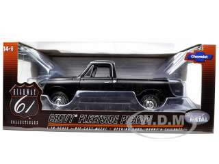 car of 1972 chevrolet fleetside pickup truck matt black die cast model