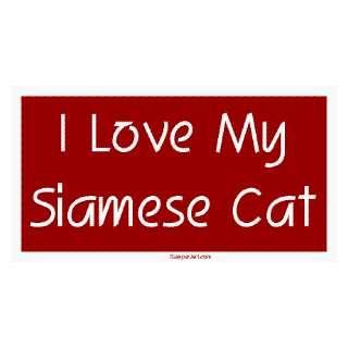 I Love My Siamese Cat Large Bumper Sticker Automotive
