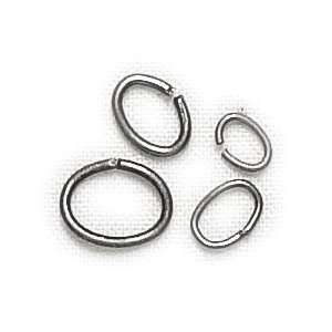 Moon Lost & Found Metal Findings, Oval Jump Rings Ox Silver, 120/Pkg