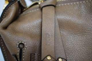 Chloe Large Marcie Leather Satchel Shoulder Bag Nut Taupe Brown $1,795