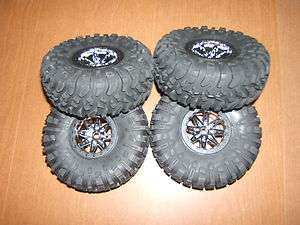 NEW AXIAL WRAITH RIPSAW TIRES W/ REBEL WHEELS (4) AX10 ROCK CRAWLER