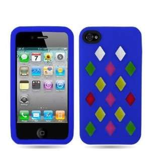 Blue Colorful Silicone Rubber Gel Soft Skin Case Cover for