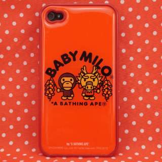 Bathing Ape Year of the Dragon Baby Milo iPhone 4 4S Case (Red)