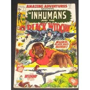 Age Comic Book Inhumans Black Widow Neal Adams Art