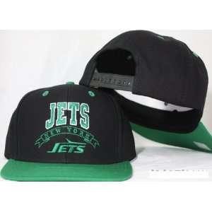 New York Jets Snapback Black / Green Plastic Adjustable Plastic Snap