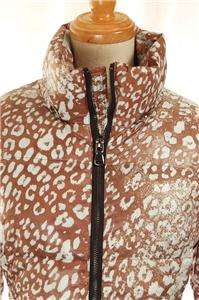Clearance AUTH Made in Italy Emilio Leopard Animal Print Quilted Down