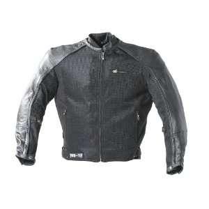 Power Trip Intercooled Mens Motorcycle Leather Jacket Black/Black