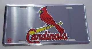 St Louis Cardinals License Plate Polished Aluminum