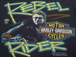 ULTRA RARE 80s vintage JAMES DEAN HARLEY DAVIDSON T SHIRT rebel