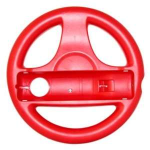 Red Mario Kart Steering Wheel Controller for Wii Games Video Games