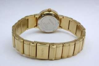 New Elgin Women Austrian Crystals Gold Tone Dress Watch 25 mm EG460