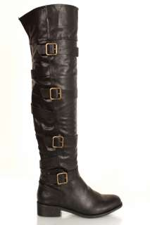 WOMEN LADIES Over The Knee length Boots Shoes Low Slouch Heel Zip faux