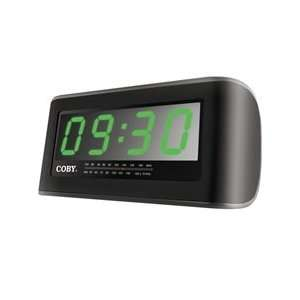 FM Alarm Clock Radio W/ 2 Inch Jumbo Display 3.5mm Audio Line In Jack